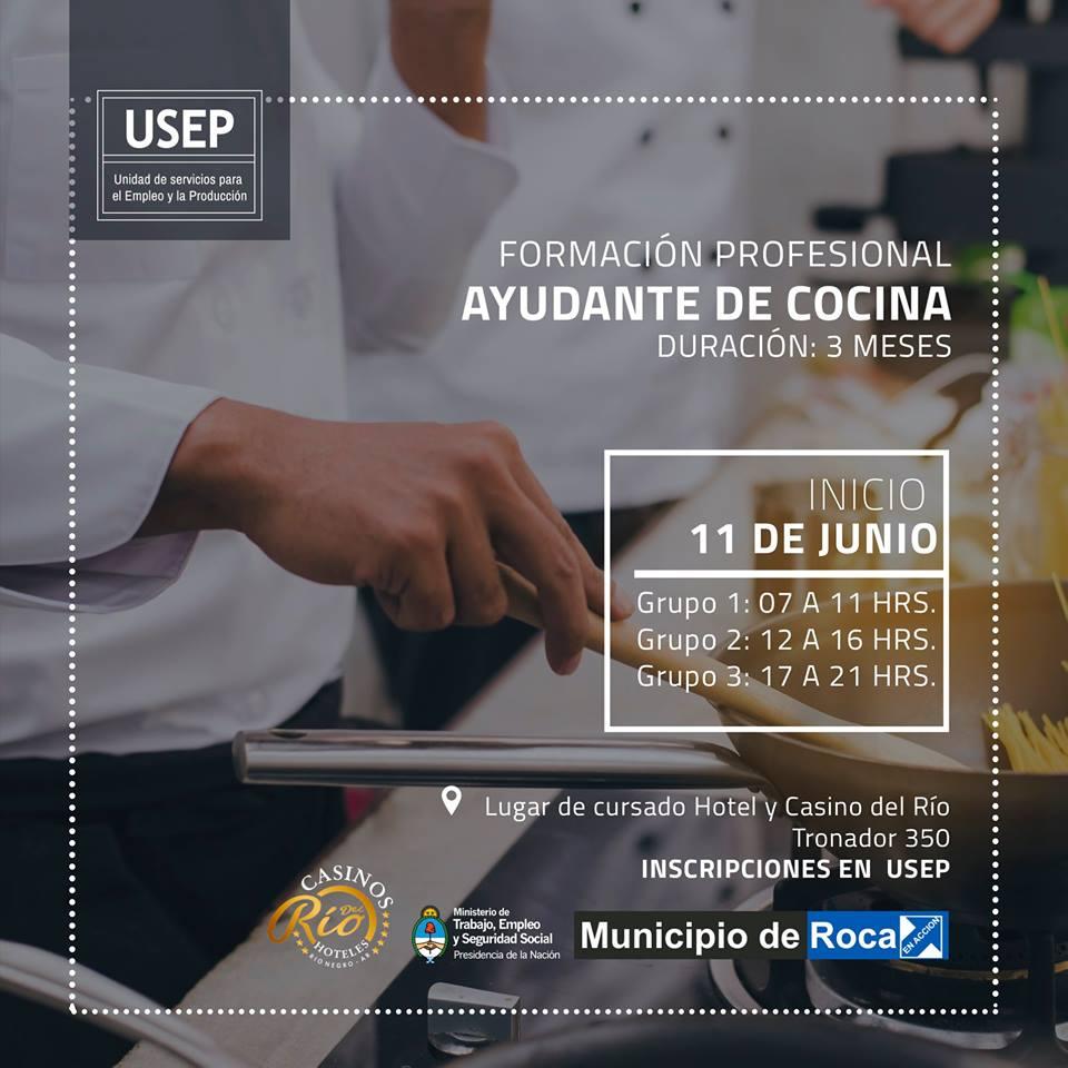 Preinscripci n a curso de ayudante de cocina municipio general roca - Curso de ayudante de cocina ...